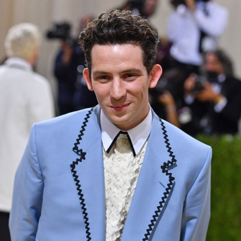 English actor Josh O'Connor arrives for the 2021 Met Gala at the Metropolitan Museum of Art on Septe...