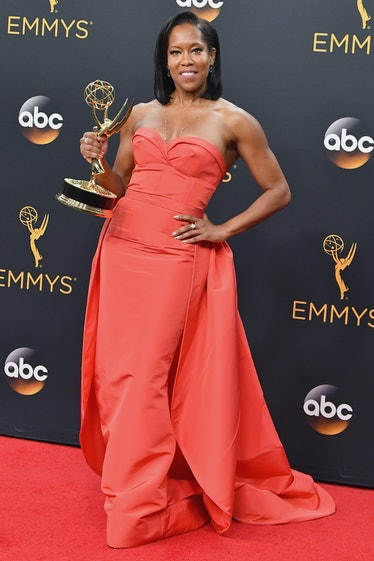 LOS ANGELES, CA - SEPTEMBER 18:  Actress Regina King, winner of the Oustanding Supporting Actress in...
