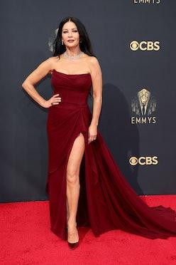 LOS ANGELES, CALIFORNIA - SEPTEMBER 19: Catherine Zeta-Jones attends the 73rd Primetime Emmy Awards ...