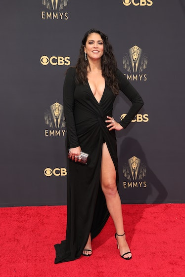 LOS ANGELES, CALIFORNIA - SEPTEMBER 19: Cecily Strong attends the 73rd Primetime Emmy Awards at L.A....