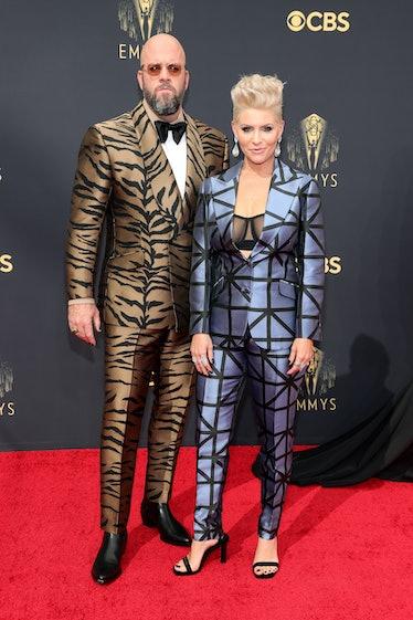 LOS ANGELES, CALIFORNIA - SEPTEMBER 19: (L-R) Chris Sullivan and Rachel Sullivan attend the 73rd Pri...