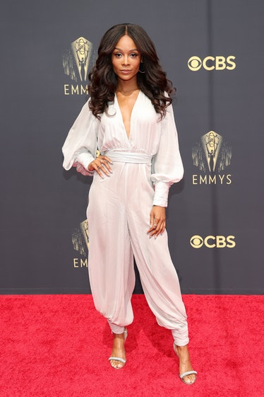 LOS ANGELES, CALIFORNIA - SEPTEMBER 19: Zuri Hall attends the 73rd Primetime Emmy Awards at L.A. LIV...