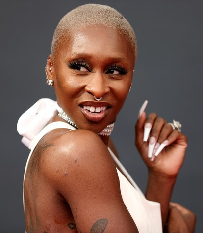 LOS ANGELES, CALIFORNIA - SEPTEMBER 19: Cynthia Erivo attends the 73rd Primetime Emmy Awards at L.A....