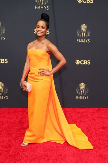 LOS ANGELES, CALIFORNIA - SEPTEMBER 19: Rachel Lindsay attends the 73rd Primetime Emmy Awards at L.A...