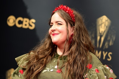 LOS ANGELES, CALIFORNIA - SEPTEMBER 19: Aidy Bryant attends the 73rd Primetime Emmy Awards at L.A. L...