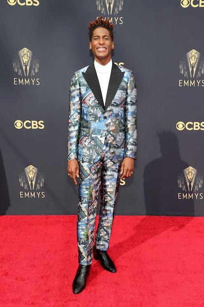 LOS ANGELES, CALIFORNIA - SEPTEMBER 19: Jon Batiste attends the 73rd Primetime Emmy Awards at L.A. L...
