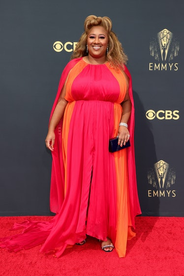 LOS ANGELES, CALIFORNIA - SEPTEMBER 19: Ashley Nicole Black attends the 73rd Primetime Emmy Awards a...