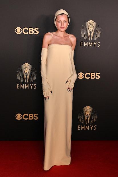 LONDON, ENGLAND - SEPTEMBER 19: Emma Corrin attends the Netflix celebration of the 73rd Emmy Awards ...