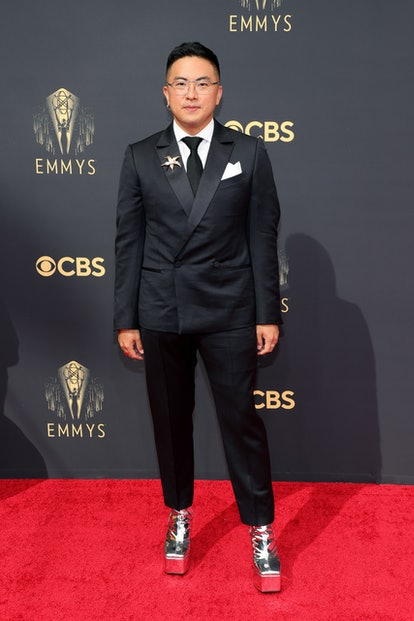 LOS ANGELES, CALIFORNIA - SEPTEMBER 19: Bowen Yang attends the 73rd Primetime Emmy Awards at L.A. LI...