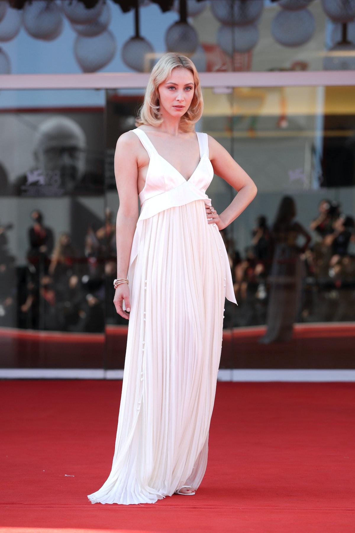 VENICE, ITALY - SEPTEMBER 02:  Venezia78 Jury member Sarah Gadon attends the red carpet of the movie...