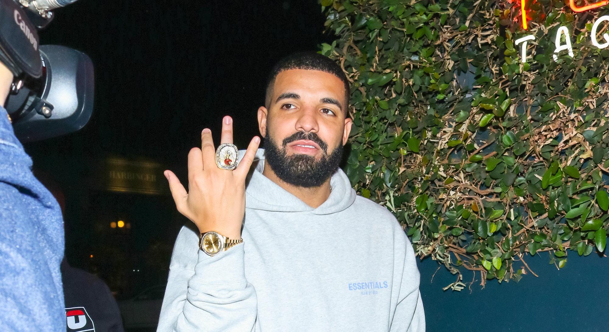 LOS ANGELES, CA - OCTOBER 23: Drake is seen on October 23, 2019 in Los Angeles, California.  (Photo ...