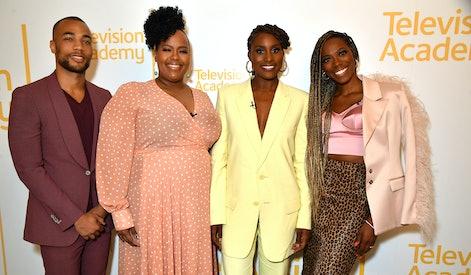 NORTH HOLLYWOOD, CA - MAY 28: Kendrick Sampson, Natasha Rothwell, Issa Rae and Yvonne Orji at the In...