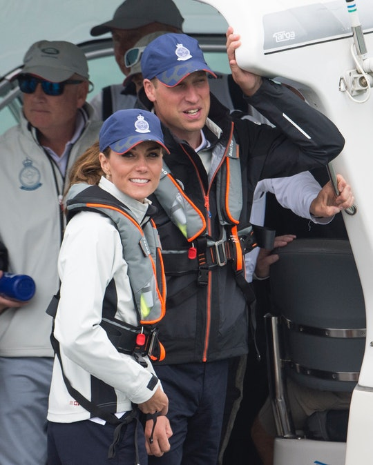 Prince William and Kate Middleton are teaching the kids to sail.
