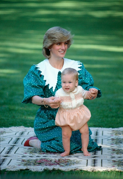 Princess Diana and Prince William on the official royal tour of New Zealand in 1983.