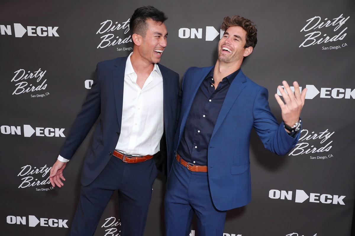 """Chris Conran and Chasen Nick joke around at the world premiere of """"On Deck"""" in San Diego, fueling ru..."""