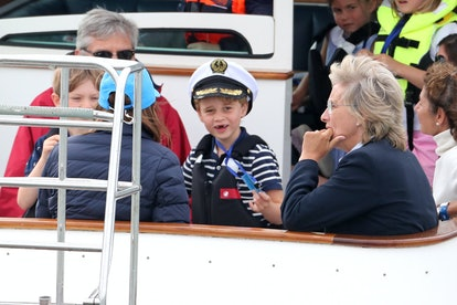 Prince George is learning to be a sailor.