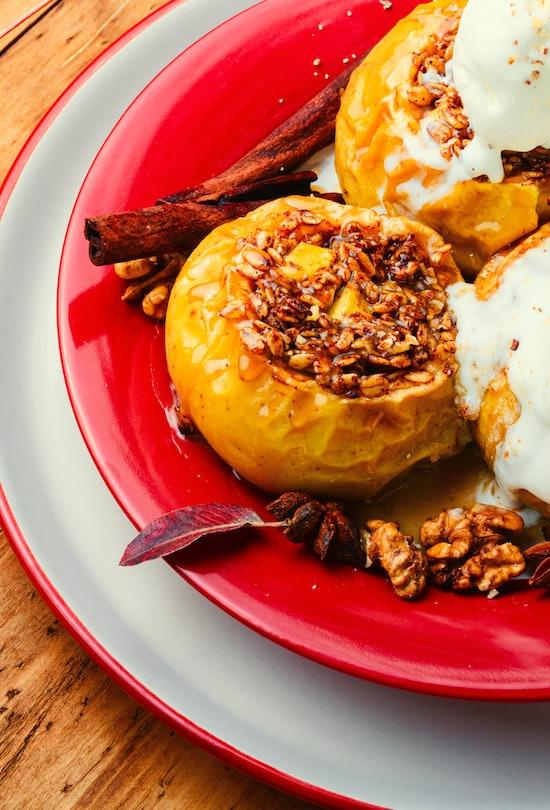 Apple recipes like baked apple cobbler are delightful in the fall season.