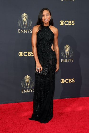 LOS ANGELES, CALIFORNIA - SEPTEMBER 19: Allyson Felix attends the 73rd Primetime Emmy Awards at L.A....