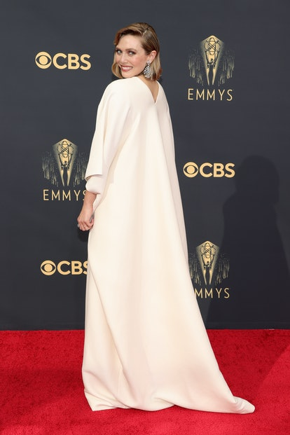 Elizabeth Olsen attends the 73rd Primetime Emmy Awards in a gown from The Row