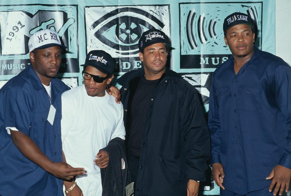 American hip hop group NWA (American rapper MC Ren, American rapper Eazy-E (1964-1995), American rap...