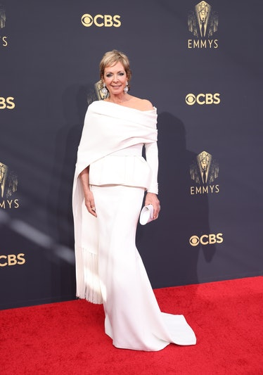 LOS ANGELES, CA - SEPTEMBER 19:    Allison Janney arrives on the red carpet for the 73rd Annual Emmy...
