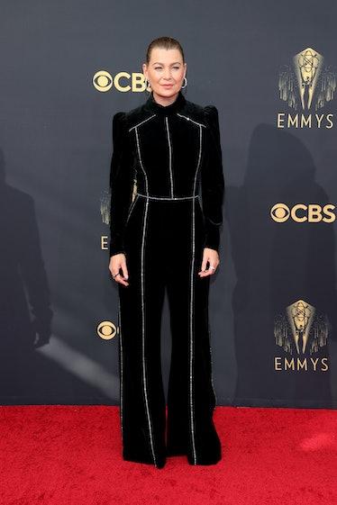 LOS ANGELES, CALIFORNIA - SEPTEMBER 19: Ellen Pompeo attends the 73rd Primetime Emmy Awards at L.A. ...
