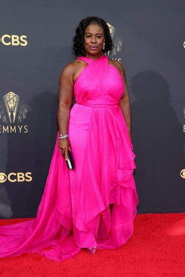 LOS ANGELES, CALIFORNIA - SEPTEMBER 19: Uzo Aduba attends the 73rd Primetime Emmy Awards at L.A. LIV...