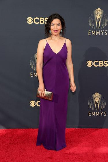 LOS ANGELES, CALIFORNIA - SEPTEMBER 19: America Ferrera attends the 73rd Primetime Emmy Awards at L....