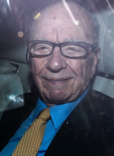 News Corporation Chief Rupert Murdoch leaves his London home, on July 20, 2011. Australian Prime Min...