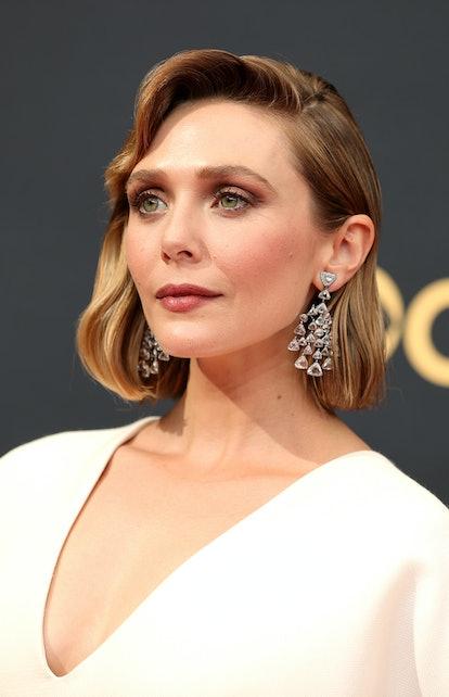 Elizabeth Olsen attends the 73rd Primetime Emmy Awards at L.A. LIVE on September 19, 2021 in Los Ang...
