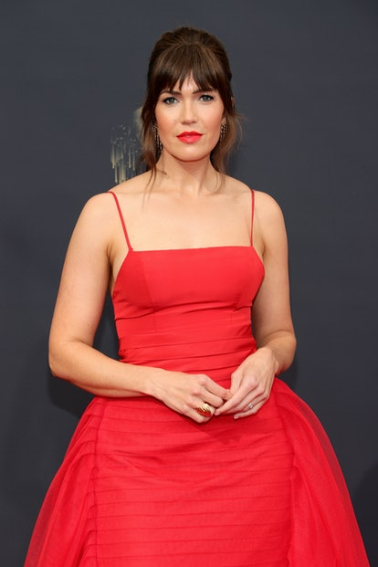 Mandy Moore attends the 73rd Primetime Emmy Awards at L.A. LIVE on September 19, 2021 in Los Angele...