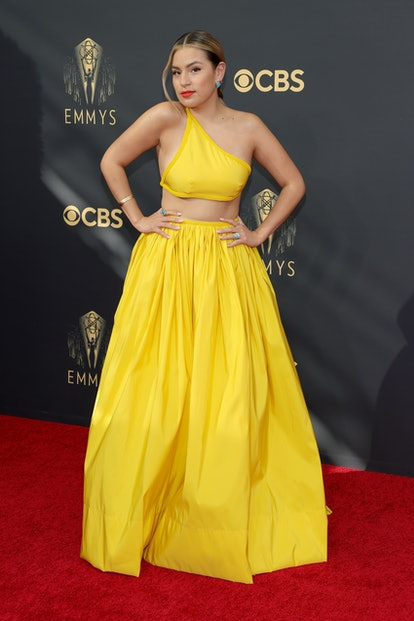 LOS ANGELES, CALIFORNIA - SEPTEMBER 19: Paulina Alexis attends the 73rd Primetime Emmy Awards at L.A...