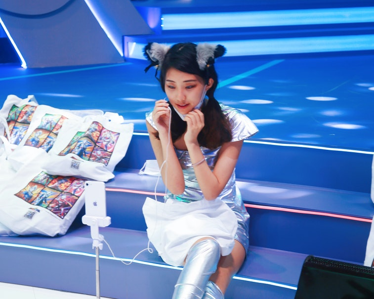 SHANGHAI, CHINA - AUGUST 2, 2021 - Celebrity anchors from the livestreaming platforms of We media su...