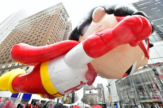 A view of the Red Titan balloon at the 94th Annual Macy's Thanksgiving Day Parade® on November 26, 2...