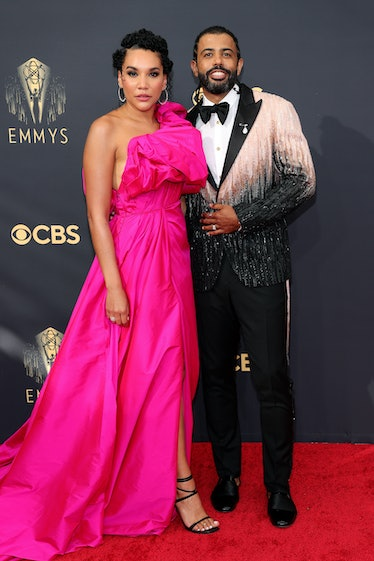 LOS ANGELES, CALIFORNIA - SEPTEMBER 19: (L-R) Emmy Raver-Lampman and Daveed Diggs attend the 73rd Pr...