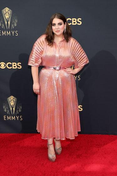LOS ANGELES, CALIFORNIA - SEPTEMBER 19: Beanie Feldstein attends the 73rd Primetime Emmy Awards at L...