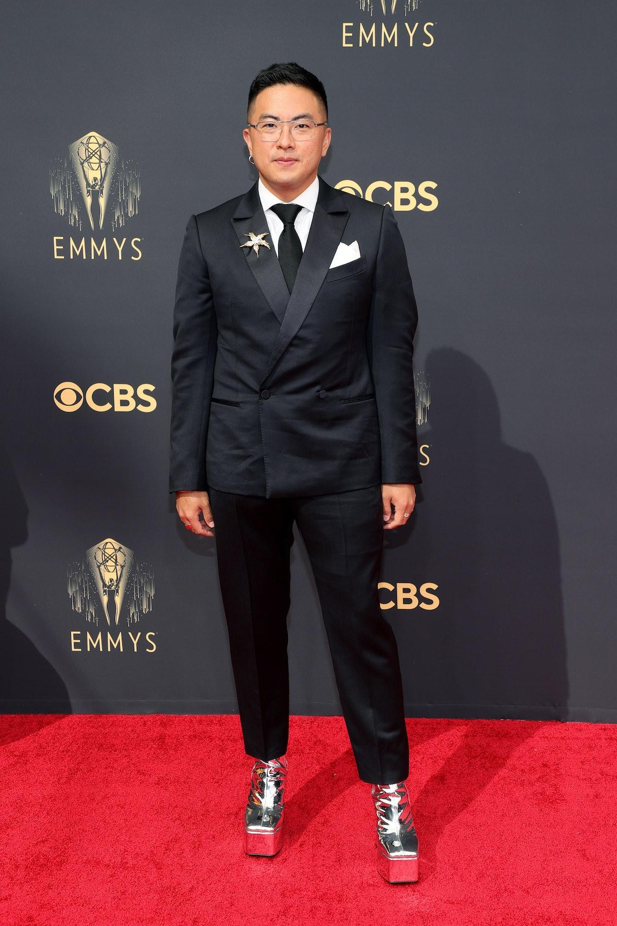 LOS ANGELES, CALIFORNIA - SEPTEMBER 19: Bowen Yang attends the 73rd Primetime Emmy Awards at LA LI ...