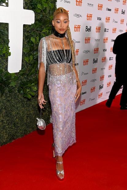 "TORONTO, ONTARIO - SEPTEMBER 09: Amandla Stenberg attends The World Premiere of ""Dear Evan Hansen"" p..."
