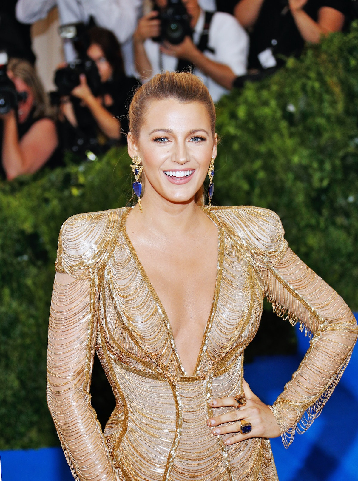 Blake Lively and Ryan Reynolds attend 'Rei Kawakubo/Comme des Garçons:Art of the In-Between' Costume...