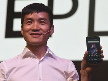 Chinese smartphone manufacturer OnePlus CEO Pete Lau attends an event to launch the new OnePlus 5 ha...