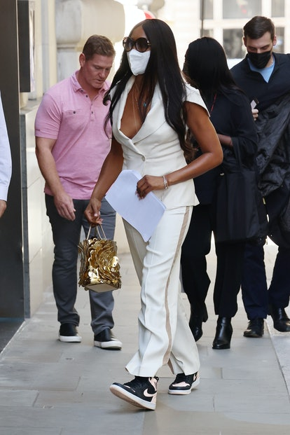 LONDON, ENGLAND - SEPTEMBER 16:  Naomi Campbell seen arriving at a hotel on September 16, 2021 in Lo...
