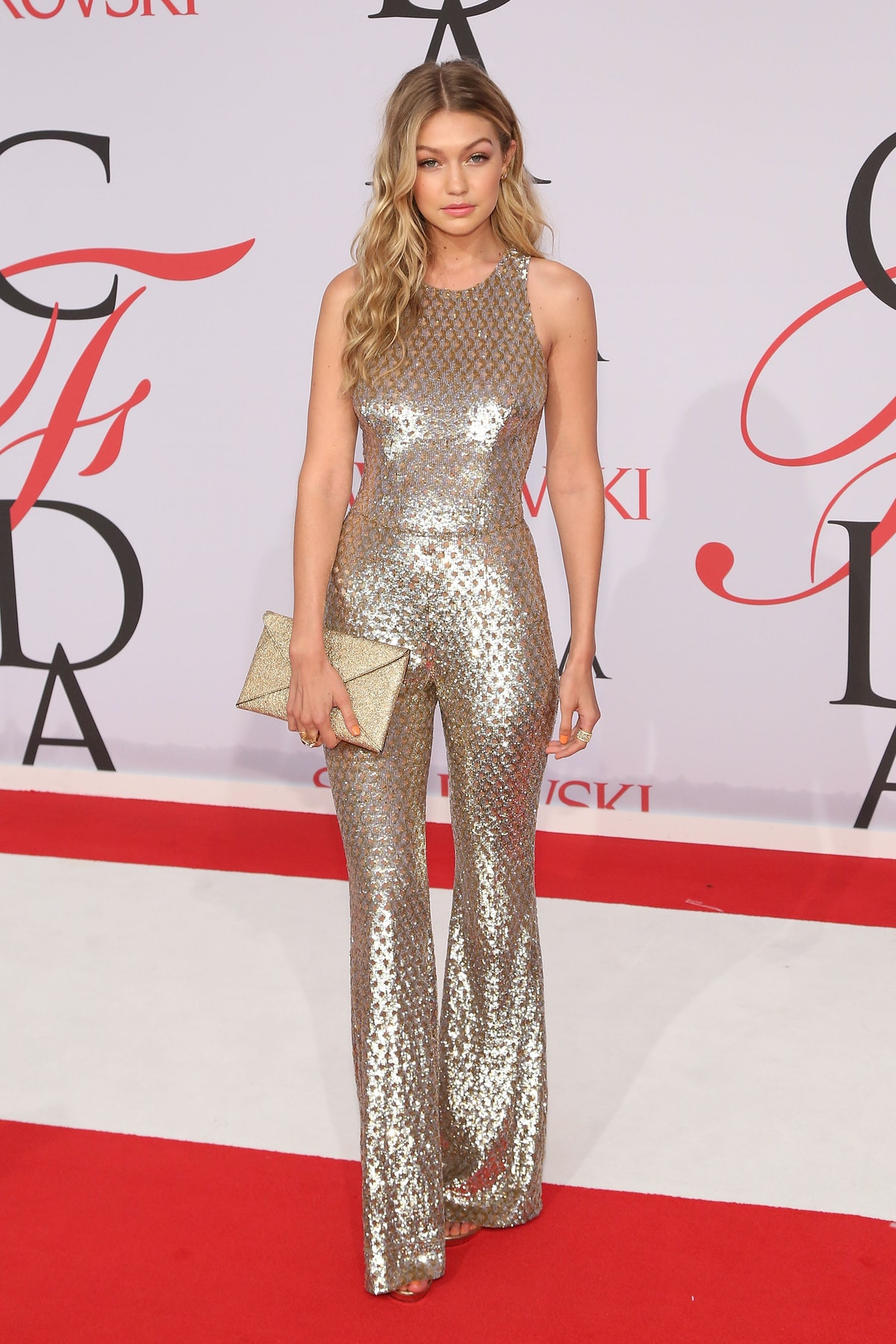NEW YORK, NY - JUNE 01:  Gigi Hadid attends the 2015 CFDA Awards at Alice Tully Hall at Lincoln Cent...