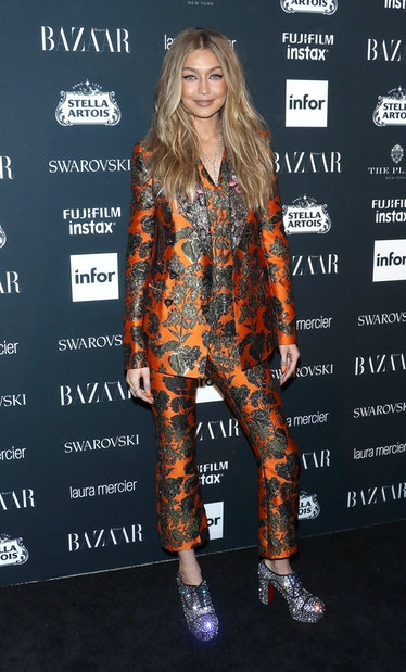 NEW YORK, NY - SEPTEMBER 08: Model Gigi Hadid attends the 2017 Harper's Bazaar Icons at The Plaza Ho...