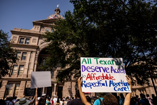 AUSTIN, TX - SEPTEMBER 11: Abortion rights activists rally at the Texas State Capitol on September 1...