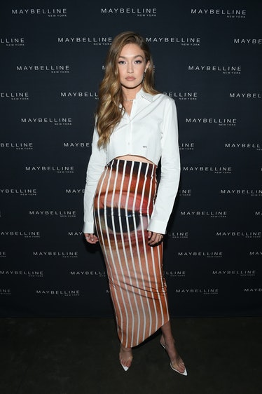 NEW YORK, NY - SEPTEMBER 08:  Gigi Hadid attends the Maybelline x New York Fashion Week XIX Party at...