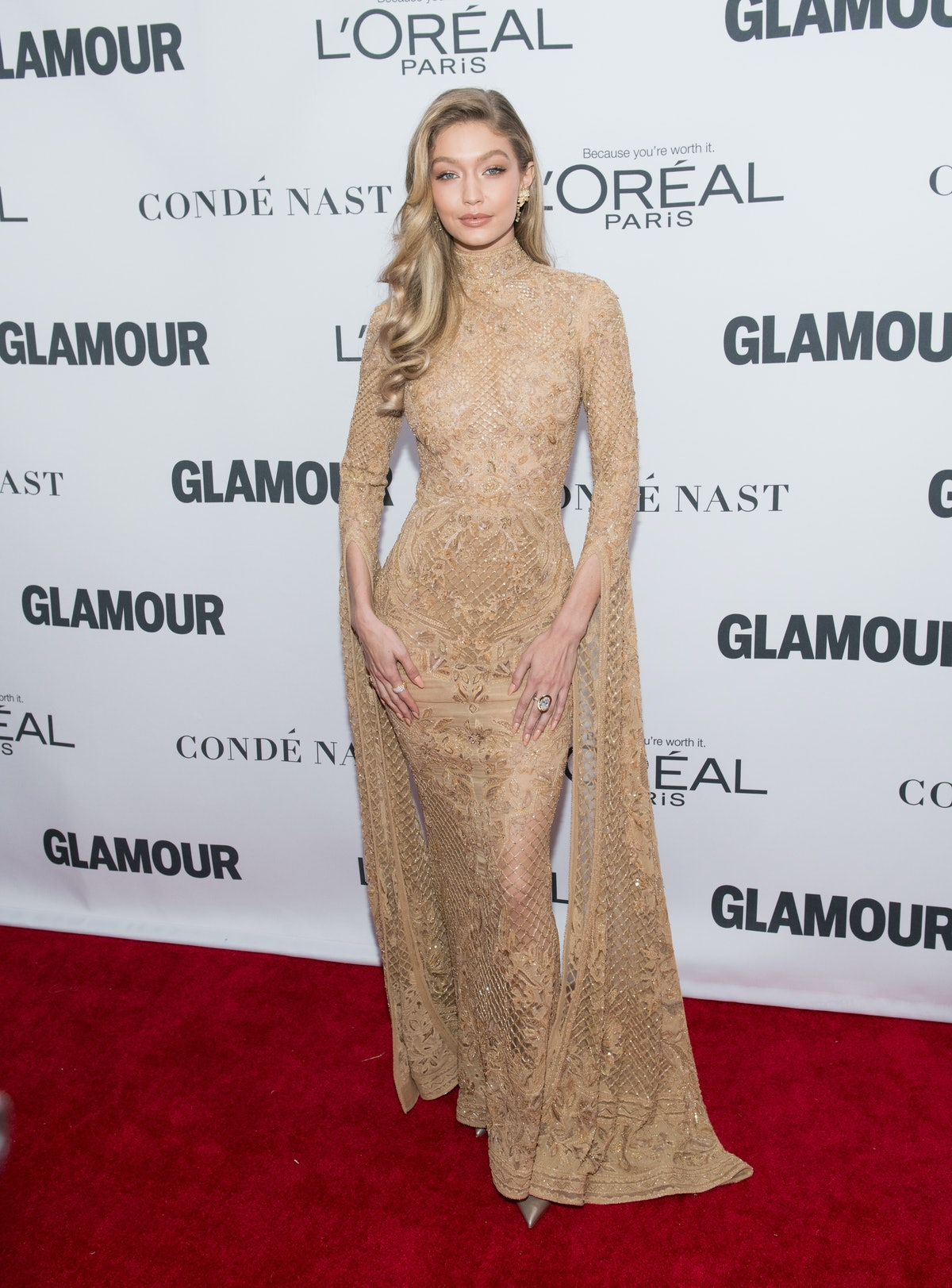 NEW YORK, NY - NOVEMBER 13:  Gigi Hadid attends the 2017 Glamour Women of The Year Awards at Kings T...