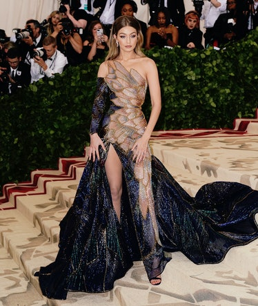 NEW YORK, NY - MAY 07:  Gigi Hadid attends Heavenly Bodies: Fashion & The Catholic Imagination Costu...