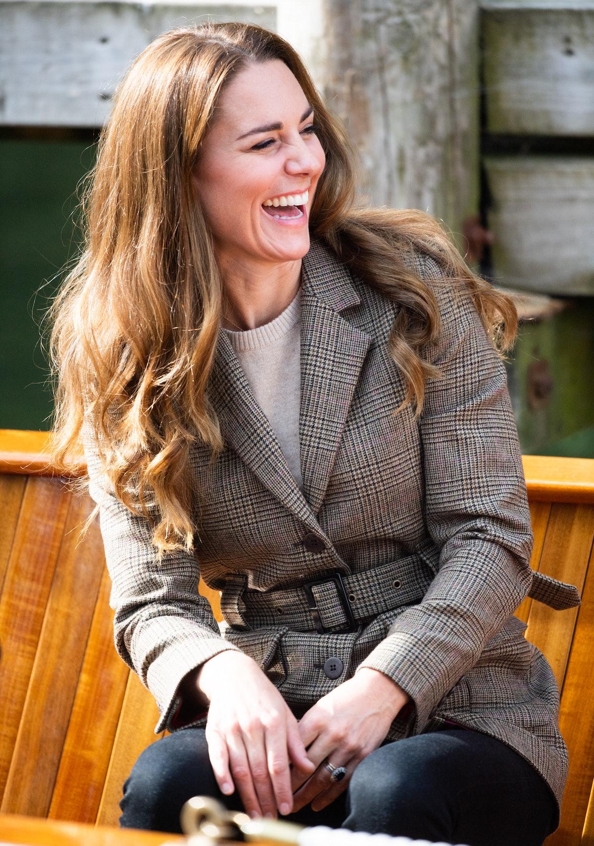 ویندرمر ، انگلیس - 21 سپتامبر: کاترین ، دوشس کمبریج برای سفر به قایق می آید ...