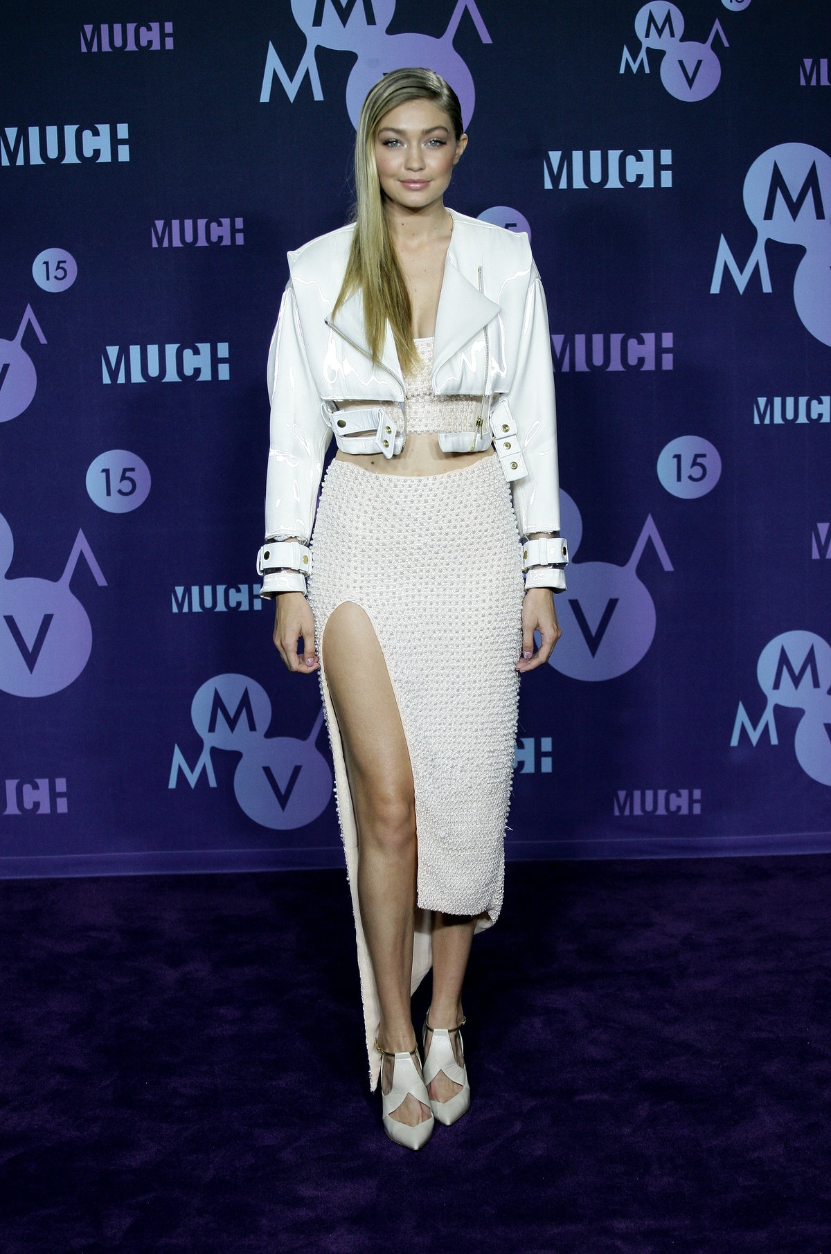 TORONTO, ON - JUNE 21:  Gigi Hadid poses in the press room at the 2015 MuchMusic Video Awards at Muc...
