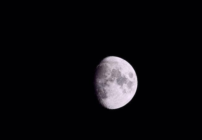 Waxing gibbous moon against a dark night sky on September 16, 2021 in Park City, Utah.